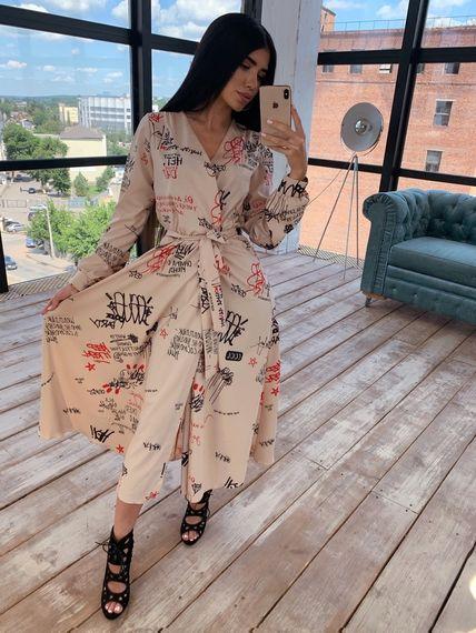 Элегантное лёгкое платье с эклюзивным принтом