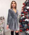 Люрексовое платье мини