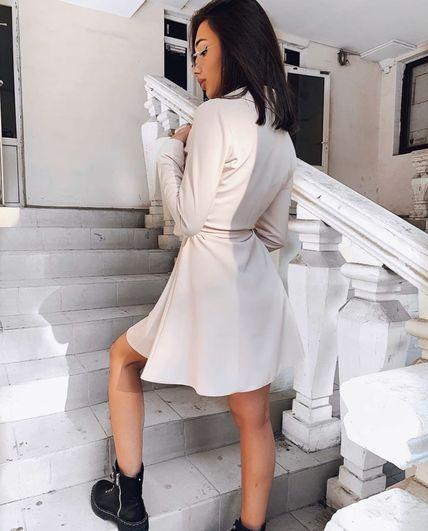 Платье на кнопках с поясом