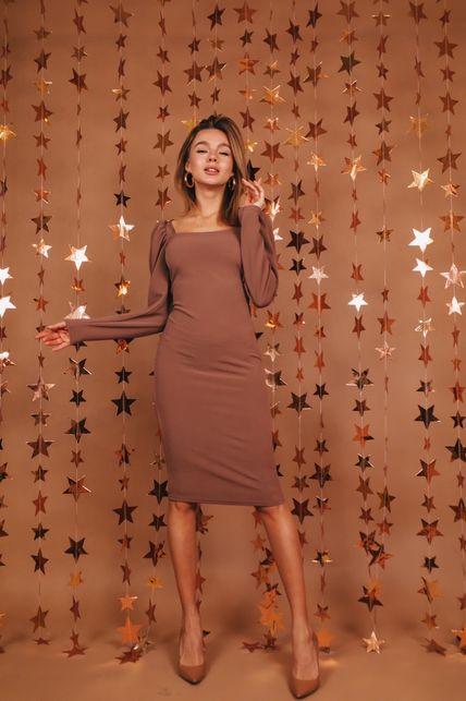 Платье с фонариком на рукаве