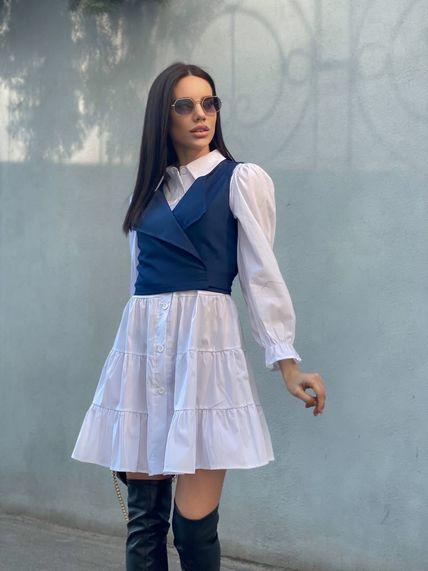 Платье+жилетка