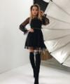 Красивое платье чёрного цвета