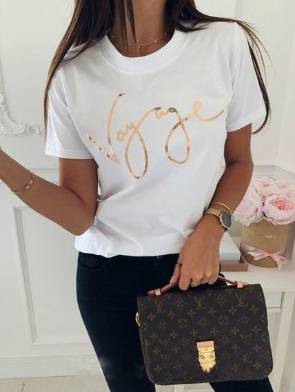 Белая футболка vаyage