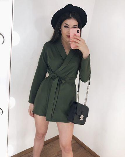 Комбез с имитацией юбки